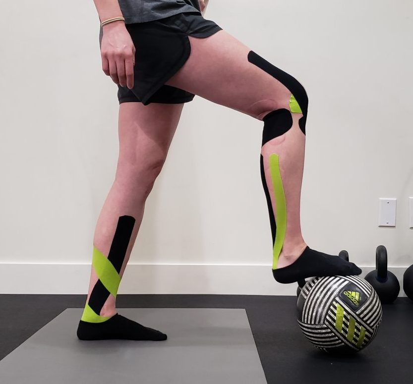 Kinesiology Tape Knee and Ankle