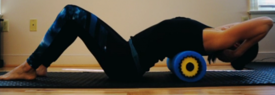 Thoracic mobilization on foam roll