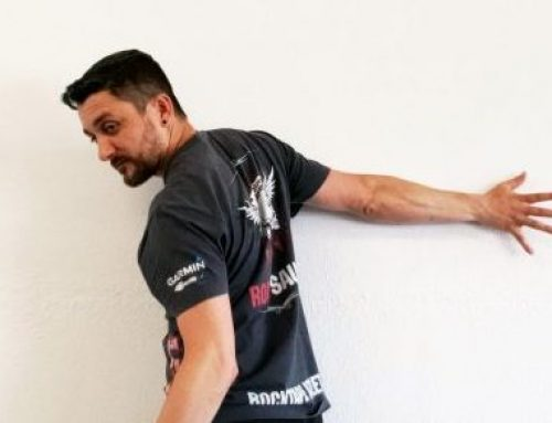 Pec Wall Hover Warm-Up Exercise