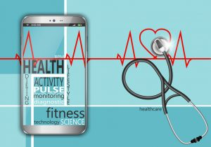 smart phone and stethoscope