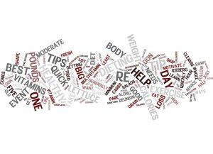 Diet advice Text Background Word Cloud Concept