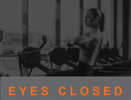 Closed Eyes During Exercise