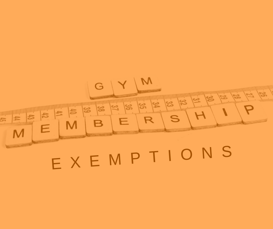 Featured Image Gym Membership Exemptions