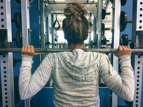 girl with barbell