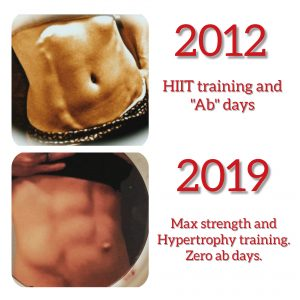 Abs before and after