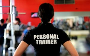 personal trainer black shirt
