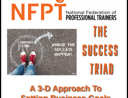 The Success Triad: A 3-D Approach to Setting FitPro Business Goals