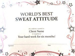 Sweat Attitude Certificate