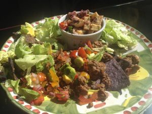taco salad with sweet potatoes