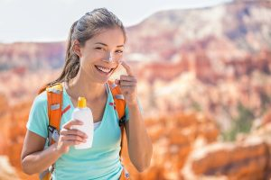 Hiker sunscreen