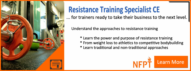 Resistance Training Continuing Education