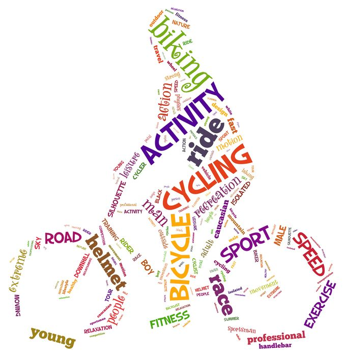 Cycling Info Text Graphics And Arrangement Concept (word Cloud)