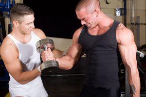man training bodybuilder