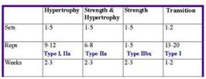 Periodization Table
