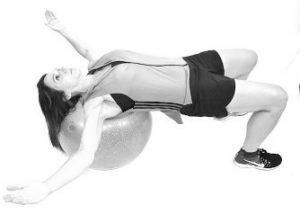 Supine Ball Chest Stretch 300x214
