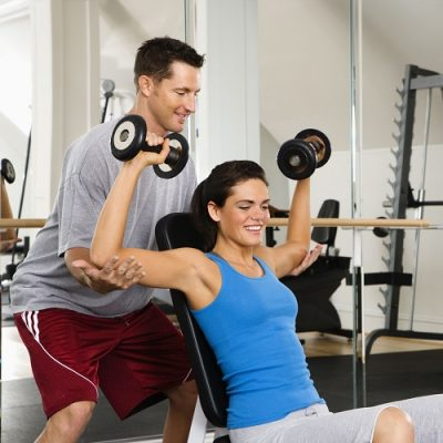trainer with proper exercise form