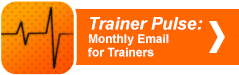 Trainer Pulse monthly email for trainers