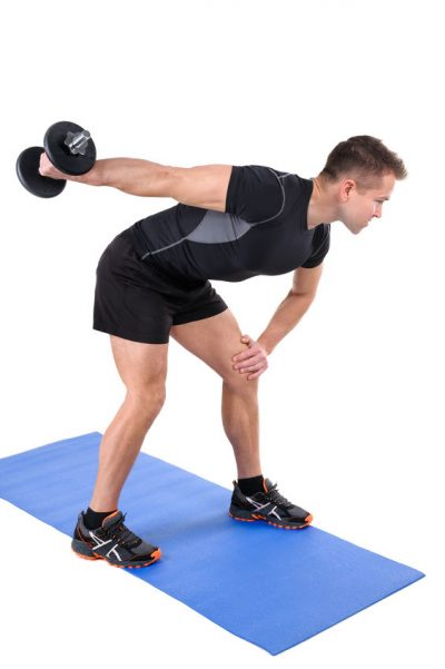 Standing Triceps Extension Dumbbell Workout